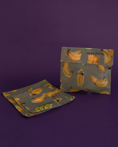 The Good Cloth Co. Beeswax Wraps and Bag - Starter Set B - Loop.