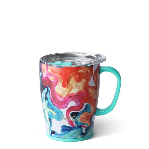 Swig Life 18oz Mug wrapped in the print Color Swirl