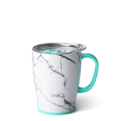 Swig Life 18oz Mug wrapped in the print Marble Slab