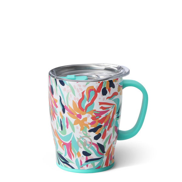 Swig Life 18oz Mug wrapped in the print Wild Flower