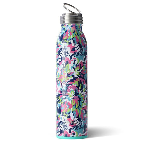 Swig Life 20oz Bottle wrapped in the print Frilly Lilly