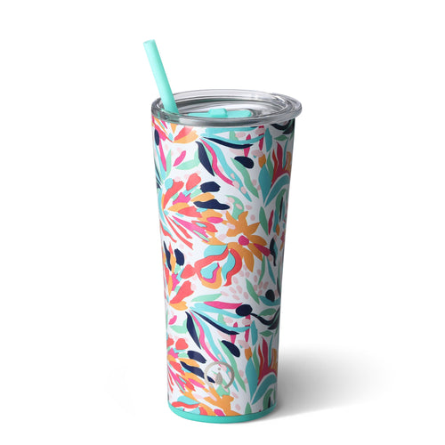 Swig Life 22oz Tumbler wrapped in the print Wild Flower
