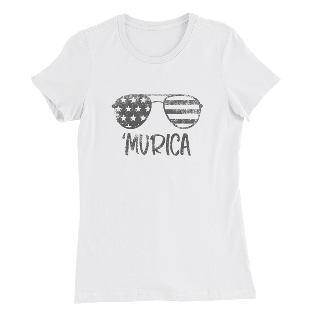 'Murica - Sunglasses (Girl's Slim T-Shirt)