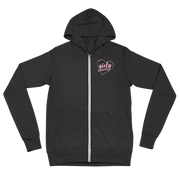 Girly Graphix Pink Logo (Girl's Zip Up Hoodie)