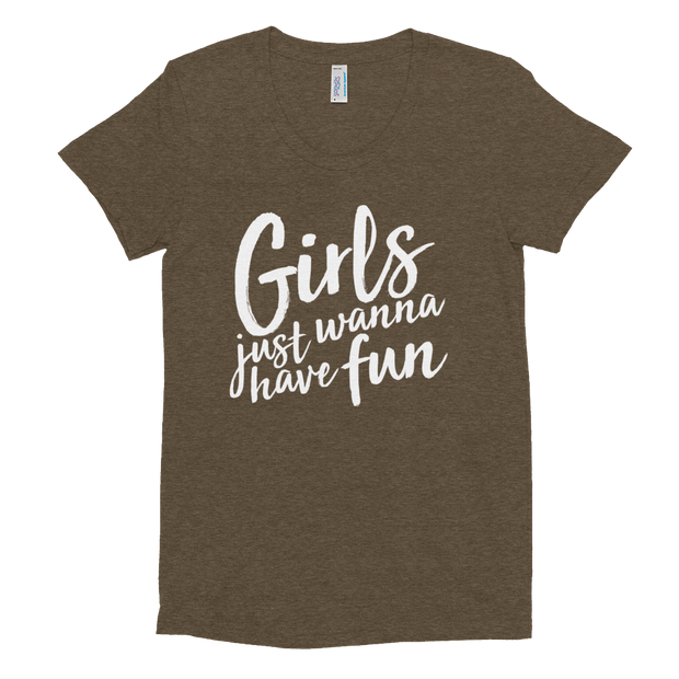 Girls Just Wanna Have Fun (Girl's Crew Neck T-shirt)