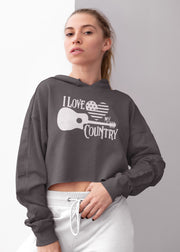 I Love My Country (Crop Hoodie)