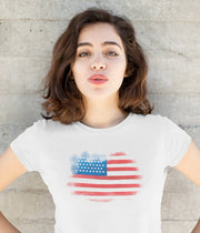 Watercolor Flag (Girl's T-Shirt)