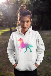 Watercolor Stallion (Hooded Sweatshirt)