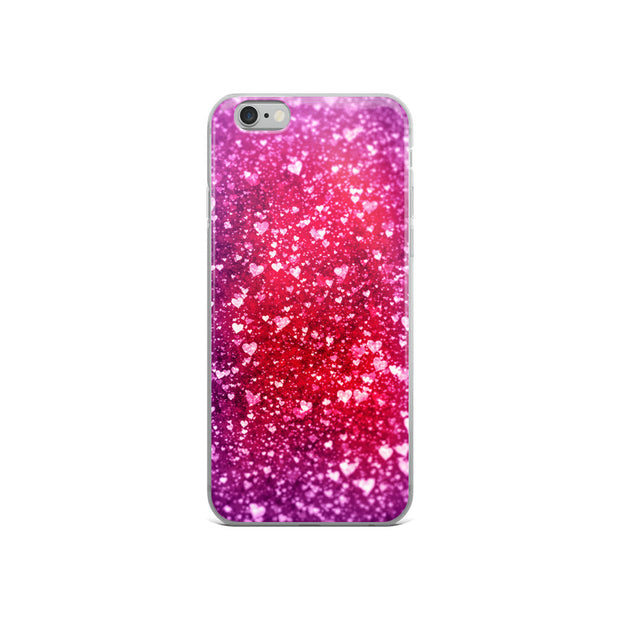 Glitter Hearts (iPhone Case)