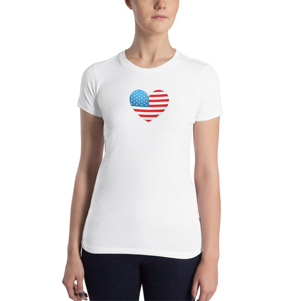 Heart Flag (Girl's Slim T-Shirt)