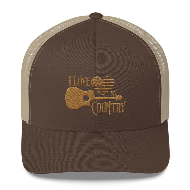 I Love My Country (Low-Profile Trucker Cap)