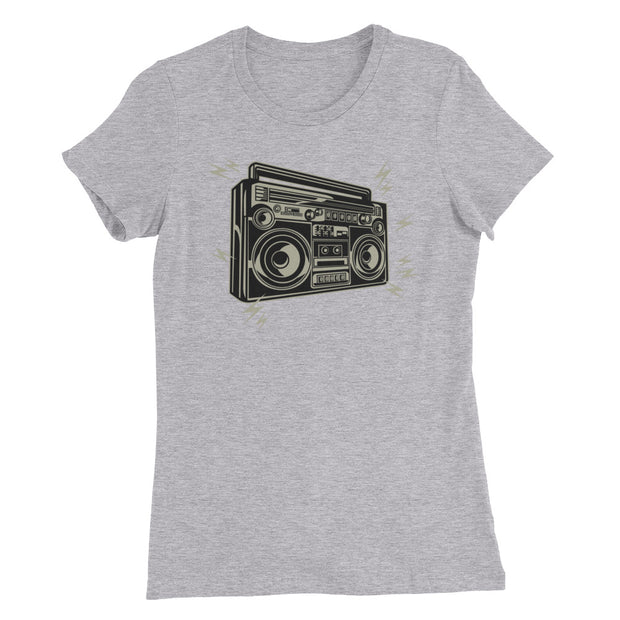 Boom Box (Girl's Slim Fit T-Shirt)