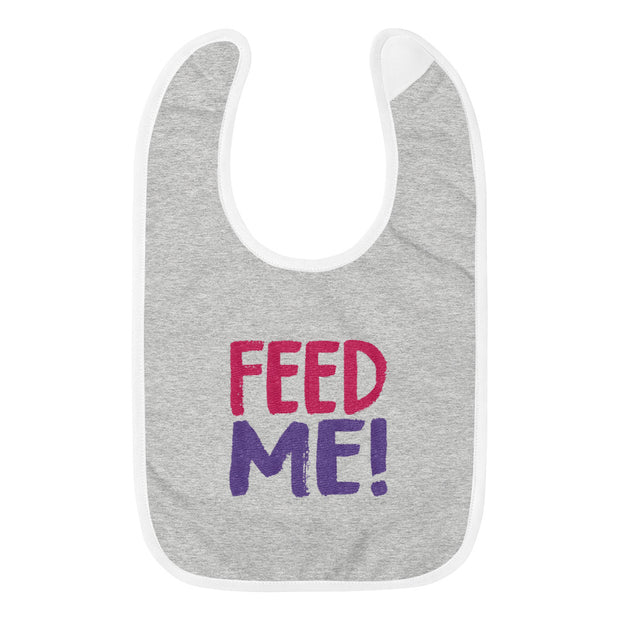 FEED ME! (Embroidered Baby Bib)