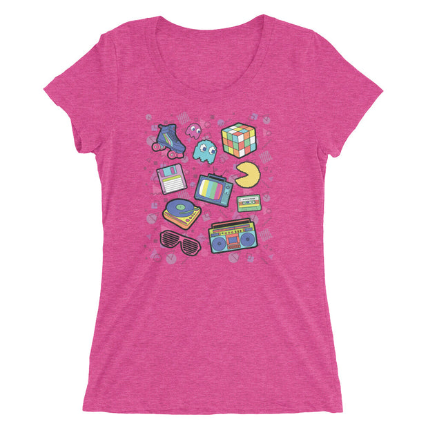 80s Retro (Girl's short sleeve t-shirt)