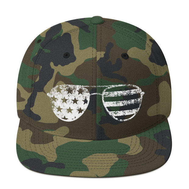 Flag Sunglasses (Snapback Cap)