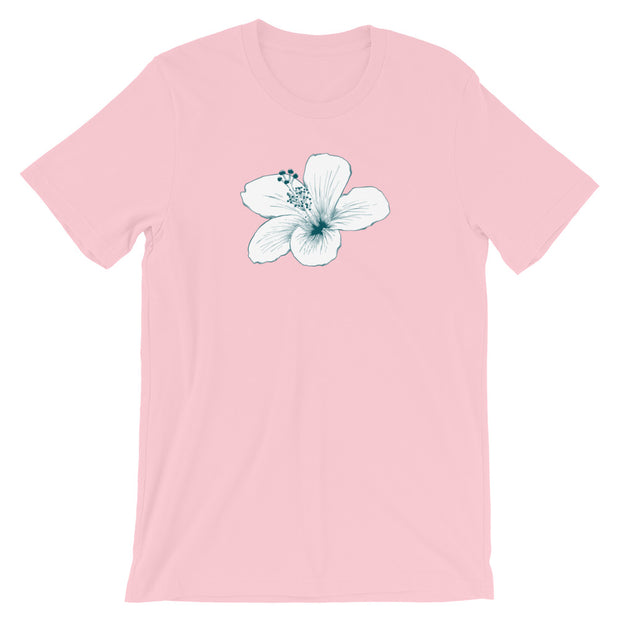 White Hibiscus (Girl's T-Shirt)