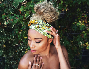 Headwrap Green & Yellow
