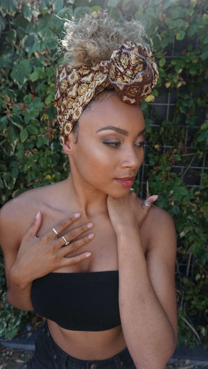 Headwrap Luxurious Gold