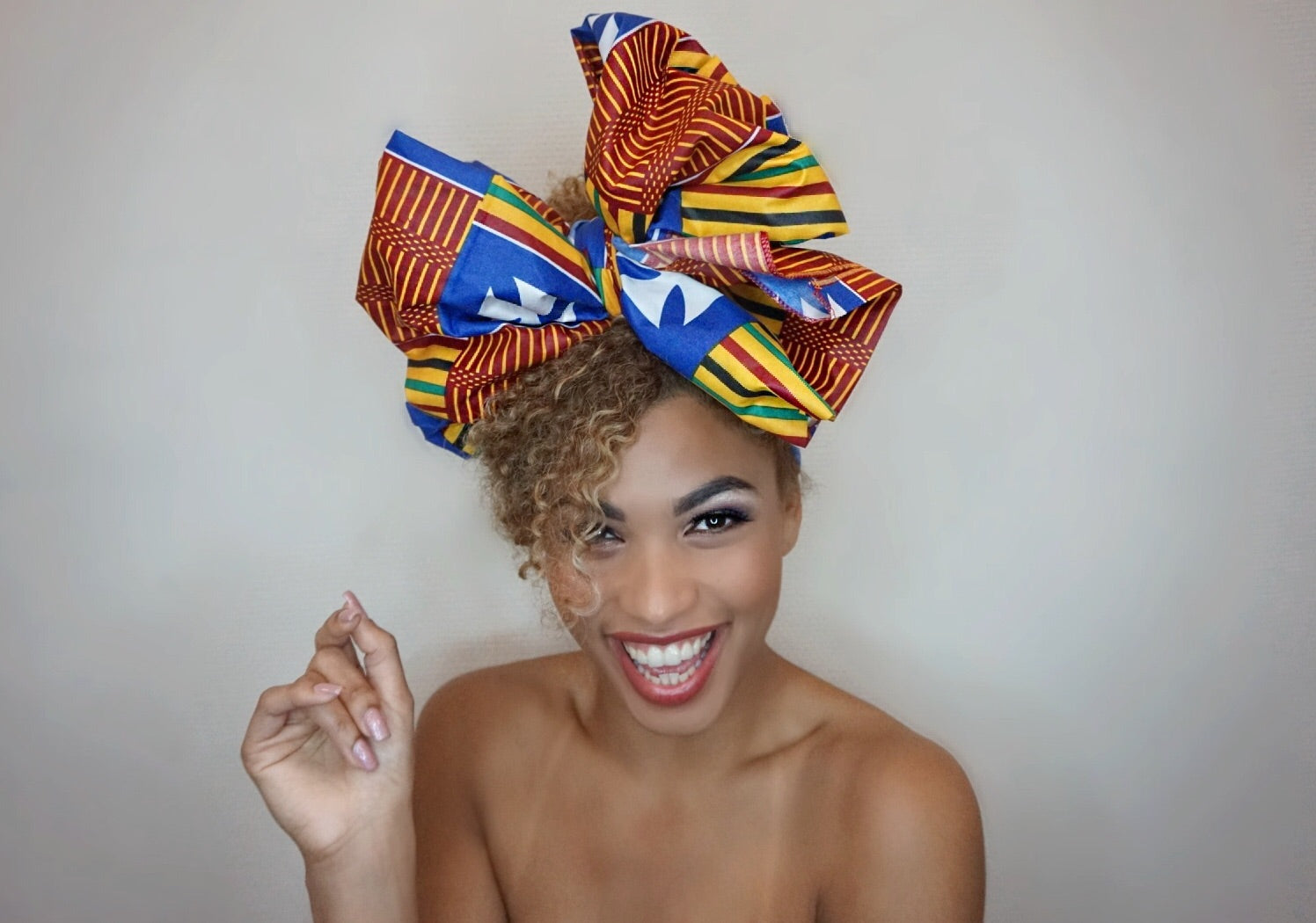 Headwrap Cross & Stripes