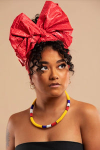 Headwrap Bright Red