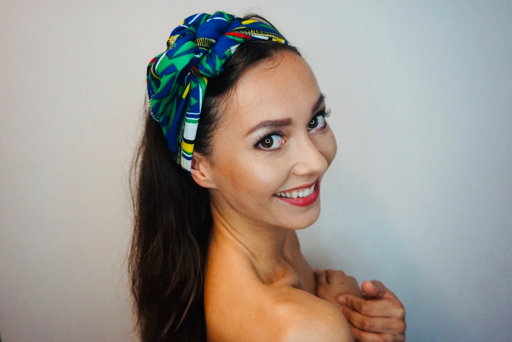 Headwrap Blocks & Stripes