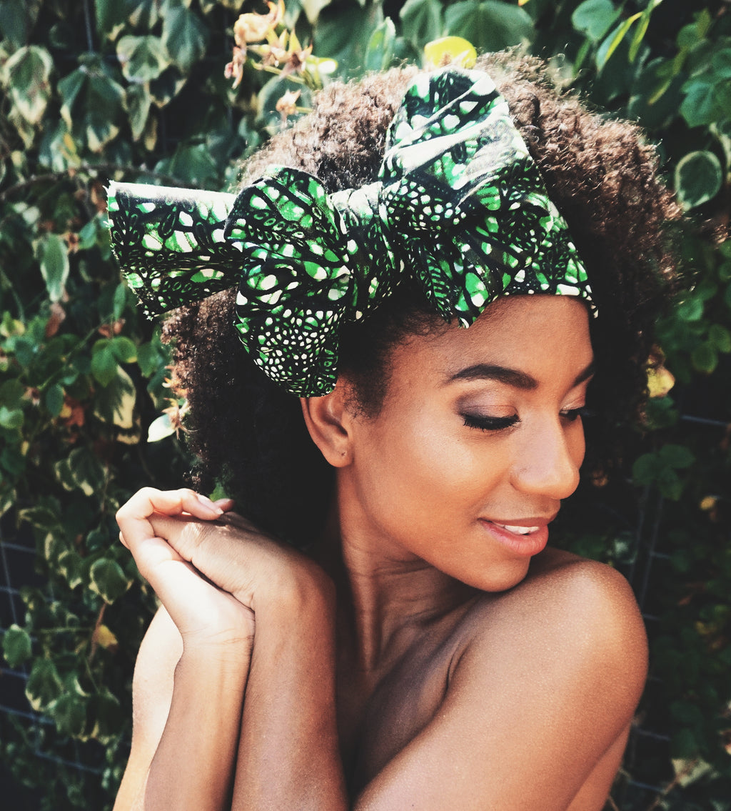 Headwrap Green Web