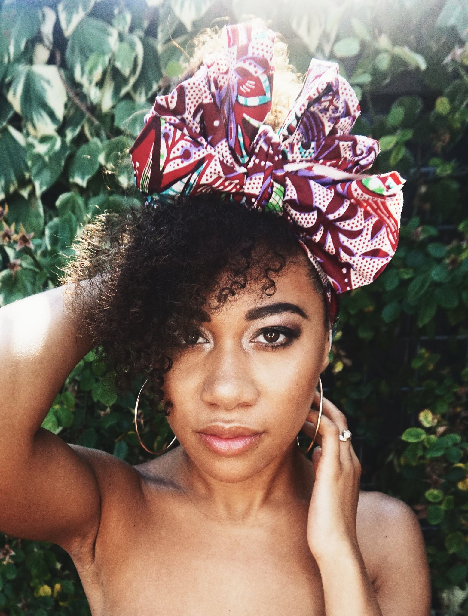 Headwrap Purple Garden