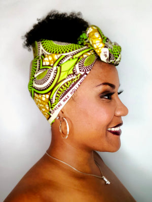 Headwrap Yellow & Bright Green
