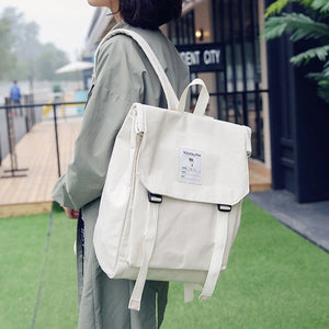 Canvas Tofu Backpack