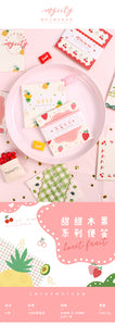 Summer Fruit Sticky Note - 2/4 Pcs