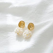 Load image into Gallery viewer, Freshwater Pearl Ball Earrings with silver pin