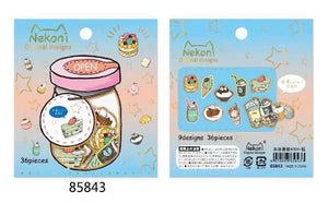 Wishing Bottle Series Waterproof Stickers - 36 pcs