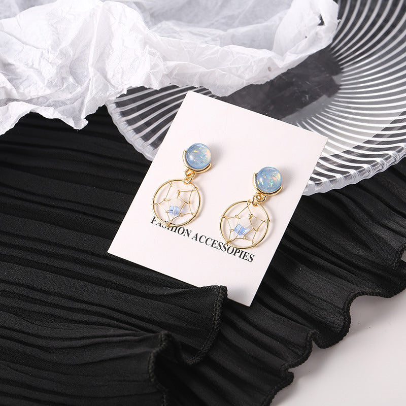 Dream Catcher Earrings with silver pin