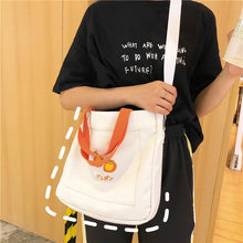 Load image into Gallery viewer, Kawaii Fruit Canvas Tote-4 color