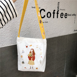 Illustration Should bag with Colorful belt