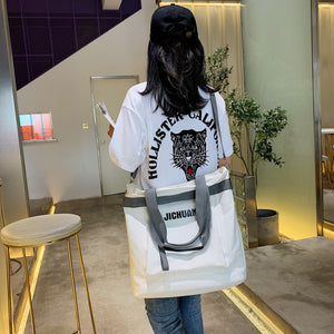 Oversized Canvas Tote Bag -4 Color