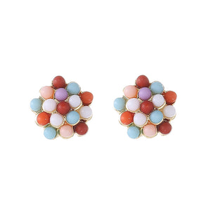 Kawaii Candy Color Ball Earrings with silver pin