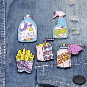Blue&Pink Series Pins - 5 Pcs