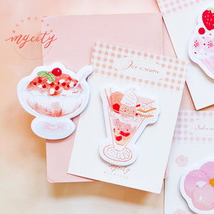 Ice Cream Sticky Note - 3/6 Pcs