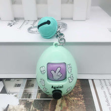 Load image into Gallery viewer, Rock Paper Scissor Toy Egg Keychain