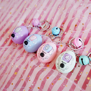 Rock Paper Scissor Toy Egg Keychain