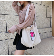 Load image into Gallery viewer, Lovely Bear Tote Bag- 3 Color