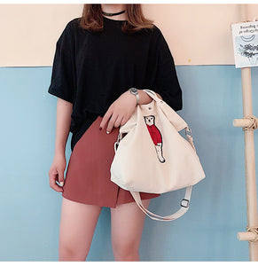 Lovely Bear Tote Bag- 3 Color