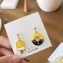 Load image into Gallery viewer, Donut and popsicle design drop earrings