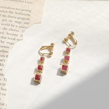 Load image into Gallery viewer, Red Lucky Drop Earrings
