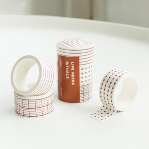 Basic Shape and Time Ruler Planner Tape - 3 Pcs