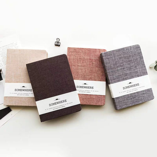 Simple Cloth Grid/Blank/Dot/Line Notebook - A5&A6