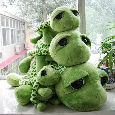 Big-Eyes Green Turtle Plush Toy