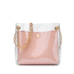Transparent Jelly Messenger Cross Bag