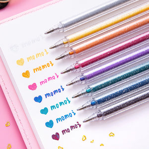 🥇🥇🥇1.0mm Bold Line Glitter/Sparkle/Metallic Gel Pen-8 Color
